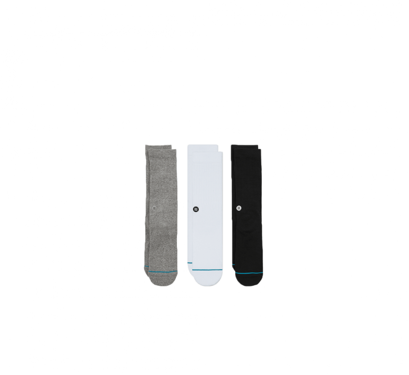 Stance Icon 3-Pack Socks Multicolor