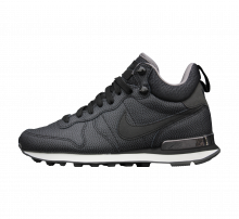 Nike WMNS Internationalist Mid Lthr Black/Black-Deep Pewter