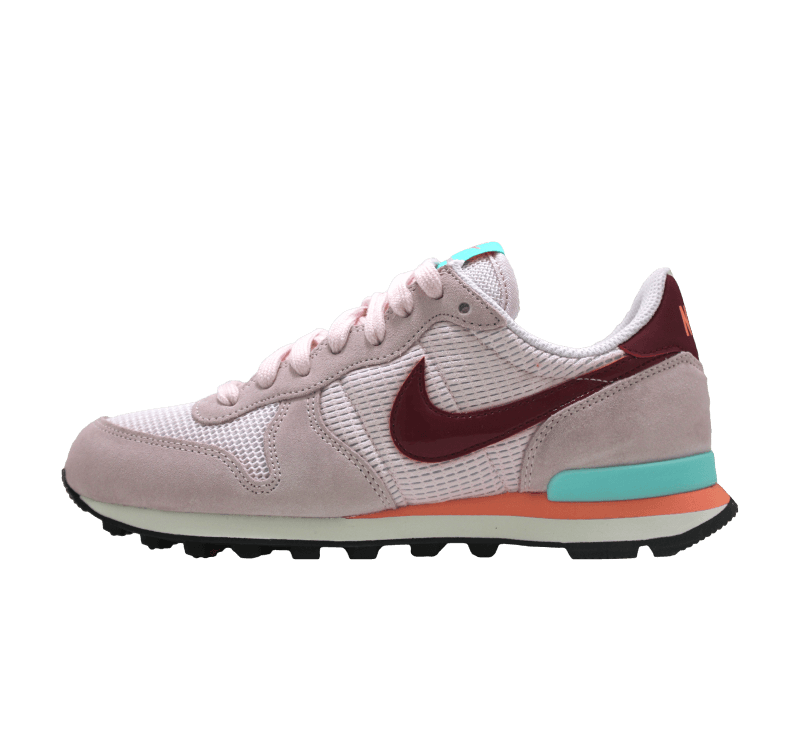 nike wmns internationalist pearl pink noble red 828407 602. Black Bedroom Furniture Sets. Home Design Ideas