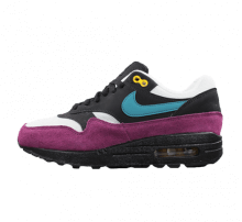 free shipping 2c854 fe251 Nike Women s Air Max 1 Black Geode Teal-Bordeaux