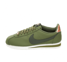Nike Women's Classic Cortez Leather Olive Canvas/Sequoia-Metallic Bronze
