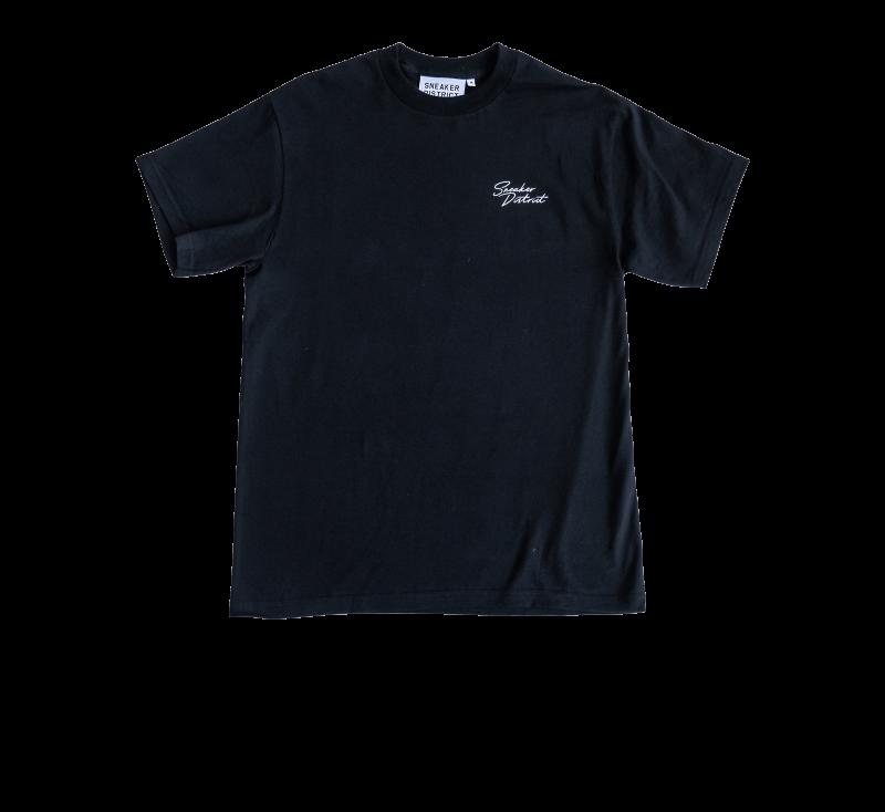 Sneaker District SD Script T-Shirt Black/White