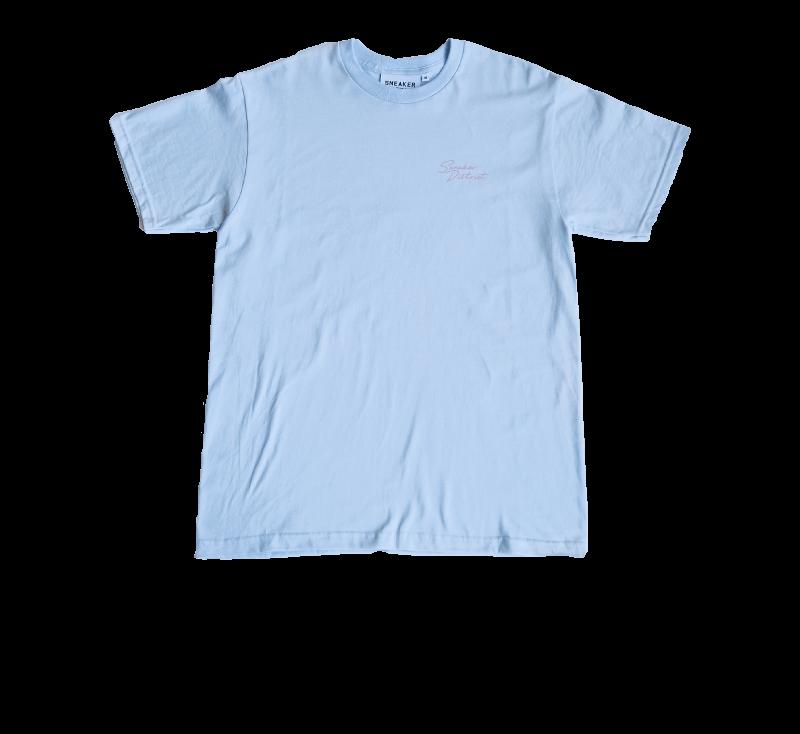 Sneaker District SD Script T-Shirt Light Blue/Pink