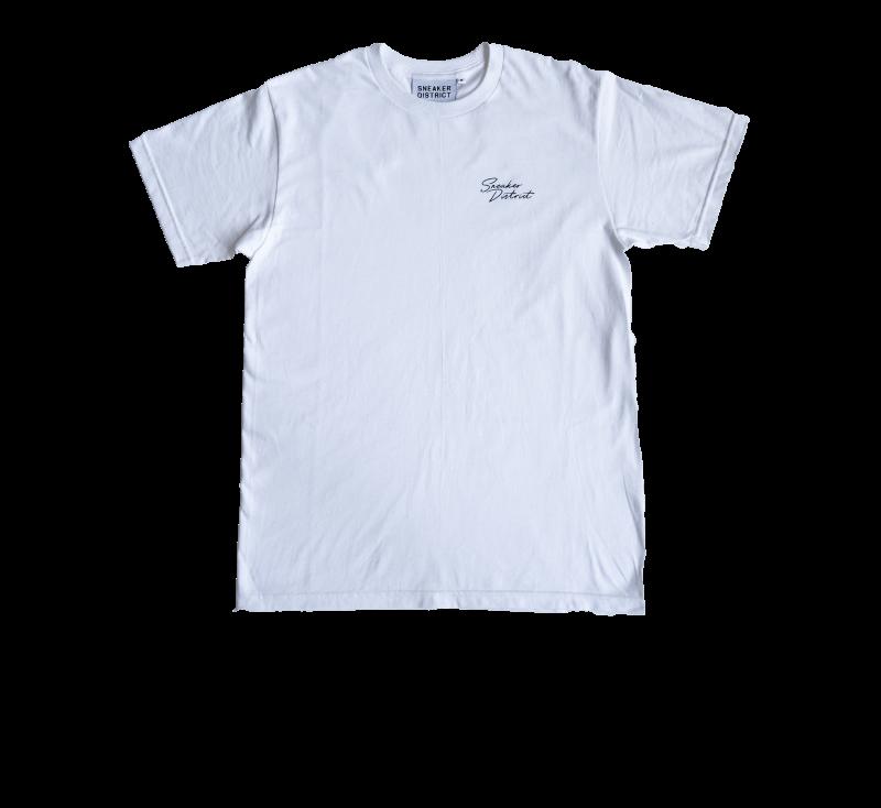 Sneaker District SD Script T-Shirt White/Black