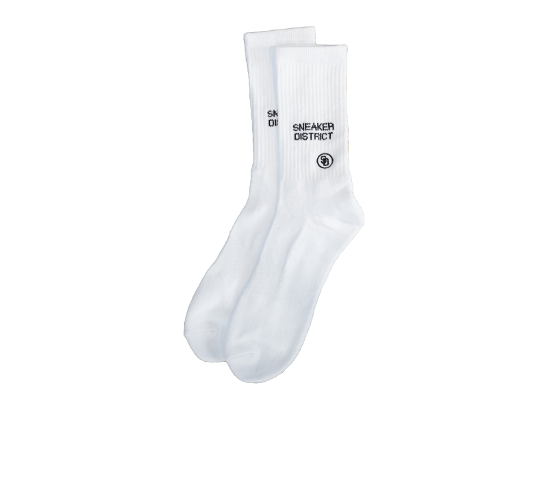 Sneaker District Typo Patch Socks White/Black