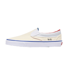Vans Classic Slip-On Outside In Natural/Navy-Red