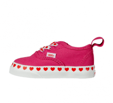 Vans Authentic Elasting Lace Heart Foxing Fuchsia Purple/High Risk Red