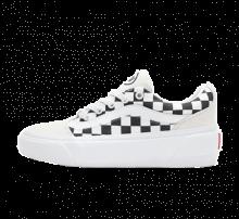 Vans Women's Shape NI Checkerboard Blanc De Blanc/True White