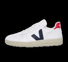 Veja V-10 Leather Extra White/Nautico Pekin