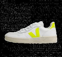 Veja V-10 Leather Extra White/Jaune-Fluor