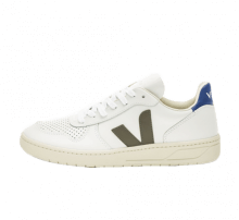 Veja Women's V-10 Leather Extra White/Kaki-Indigo
