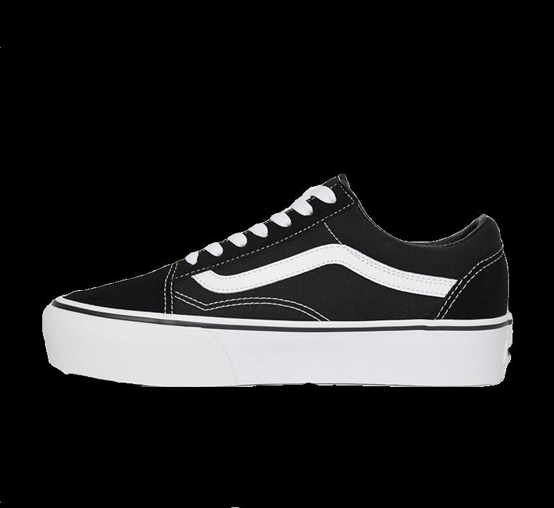 Vans Old Skool Platform Black/White