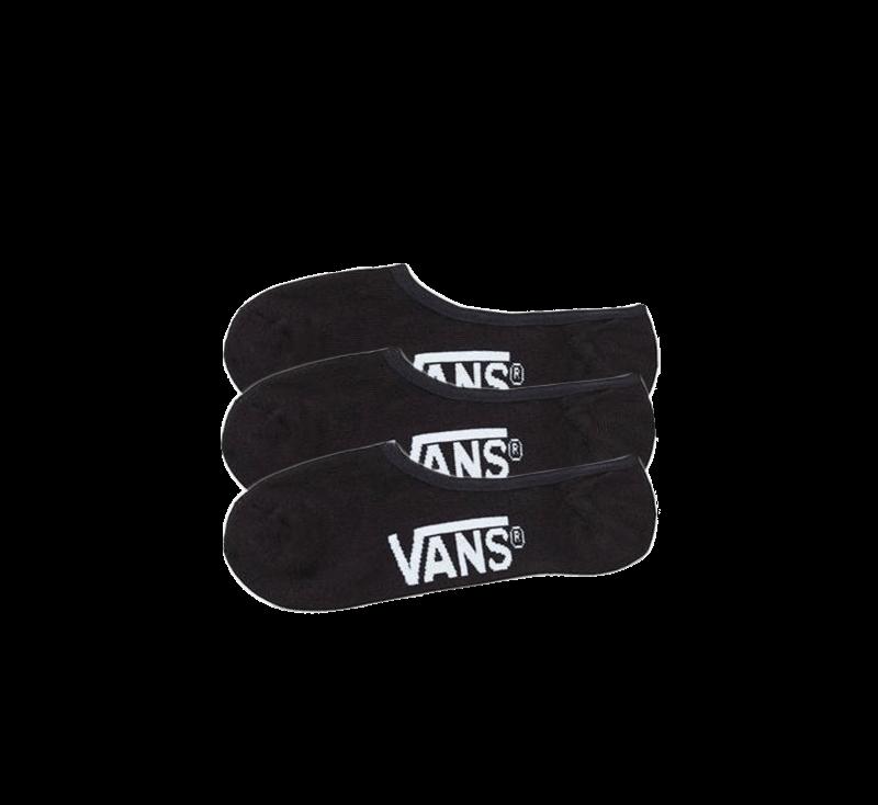 Vans Classic Super No Show Socks 3-Pack Black