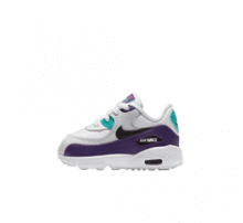 Nike Air Max 90 Leather TD White/Black-Hyper Jade-Court Purple