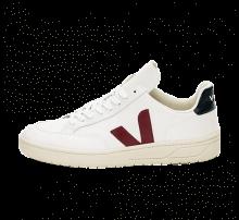 Veja V-12 Leather Extra White/Marsala-Nautico