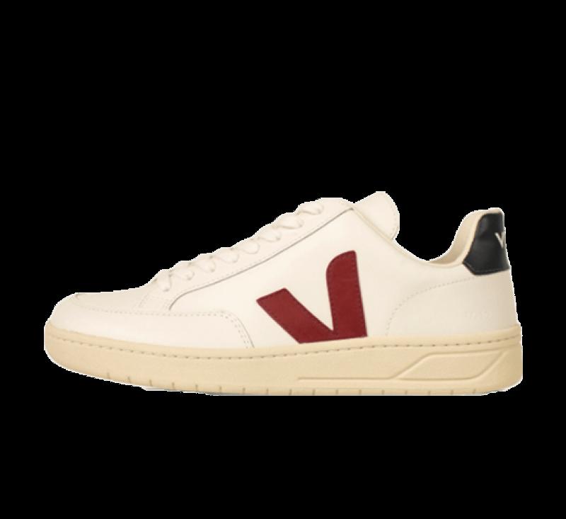 Veja Women's V-12 Leather Extra White/Marsala Nautico