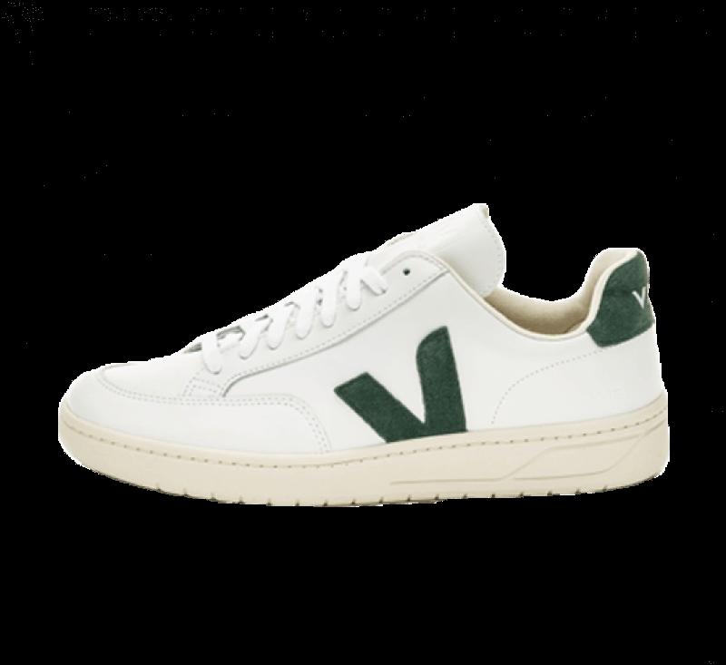 Veja V-12 Leather Extra White/Cyprus
