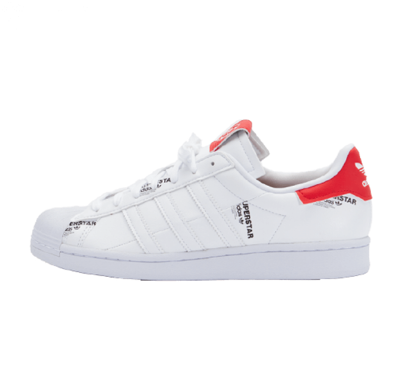 Adidas Superstar Footwear White/Vivid Red-Core Black