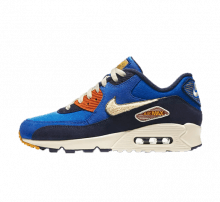 Nike Air Max 90 Premium SE Game Royal/Light Cream-Camper Green