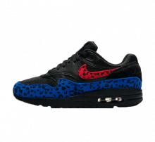 Nike Air Max 1 Premium Black Leopard Habanero Red/Racer Blue
