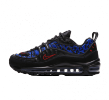 Nike Air Max 98 Premium Black Leopard Habanero Red/Racer Blue