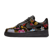 Nike Women's Air Force 1 '07 LXX Floral Black/Metallic Gold