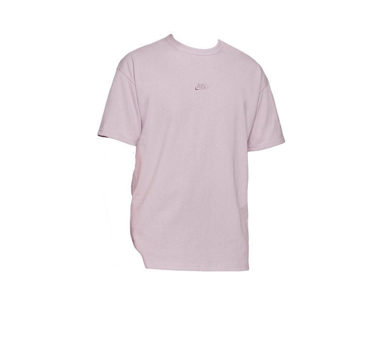 Nike NSW Premium Essential T-Shirt Embroidered Logo Iced Lilac