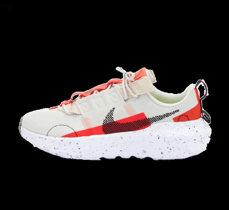 Nike Womens Crater Impact Light Bone / Black - Bright Crimson