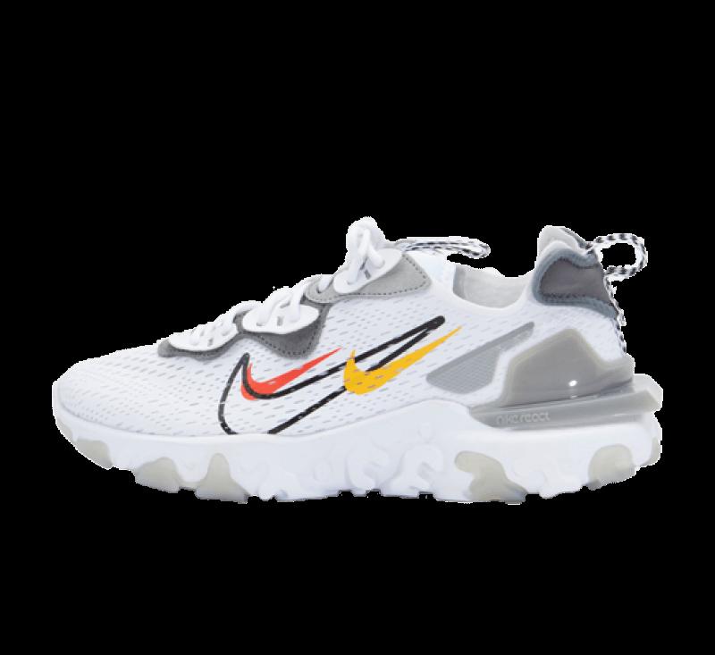 Nike React Vision White/Black-Light Smoke Grey
