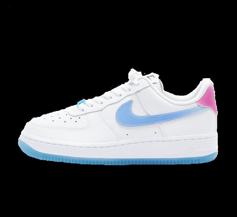 Nike Women's Air Force 1 '07 LX UV Reactive White / University Blue