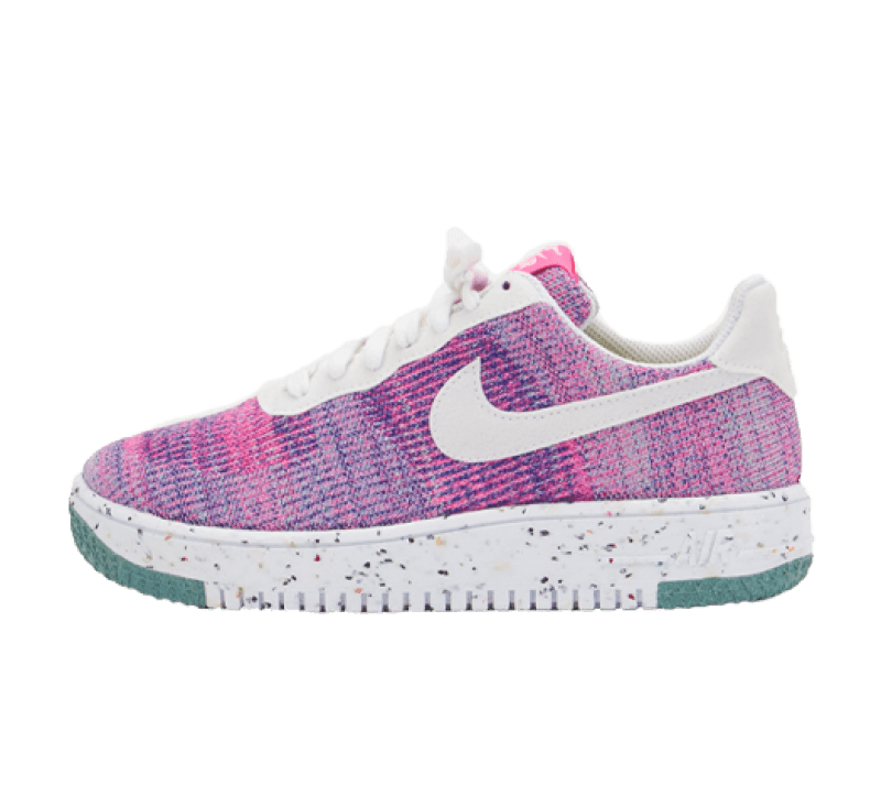 Nike Women's Air Force 1 Crater Flyknit Fuchsia Glow/Pink Blast-Green Glow