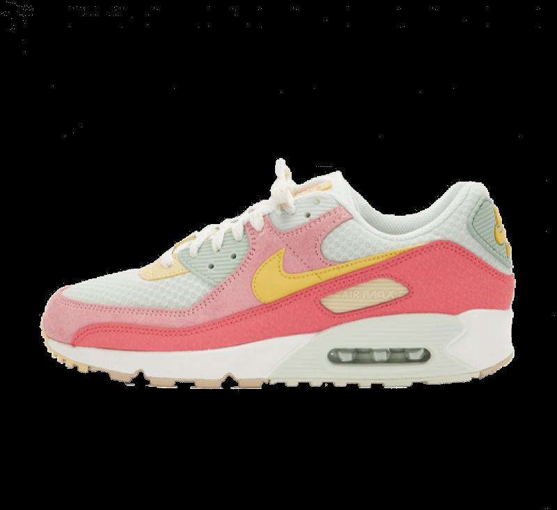 Nike Women's Air Max 90 Sea Glass/Saturn Gold-Pink Salt