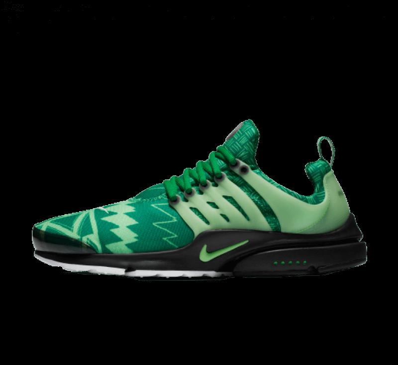 Nike Air Presto Naija Pine Green/Green Strike-Black-White