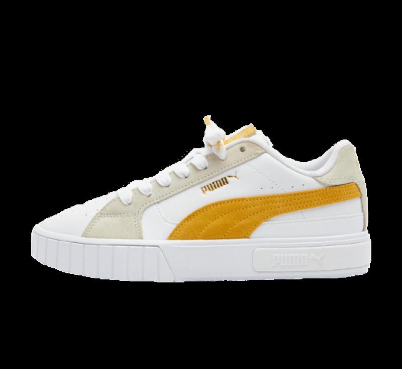 Puma Women's Cali Star Mix White / Mineral Yellow