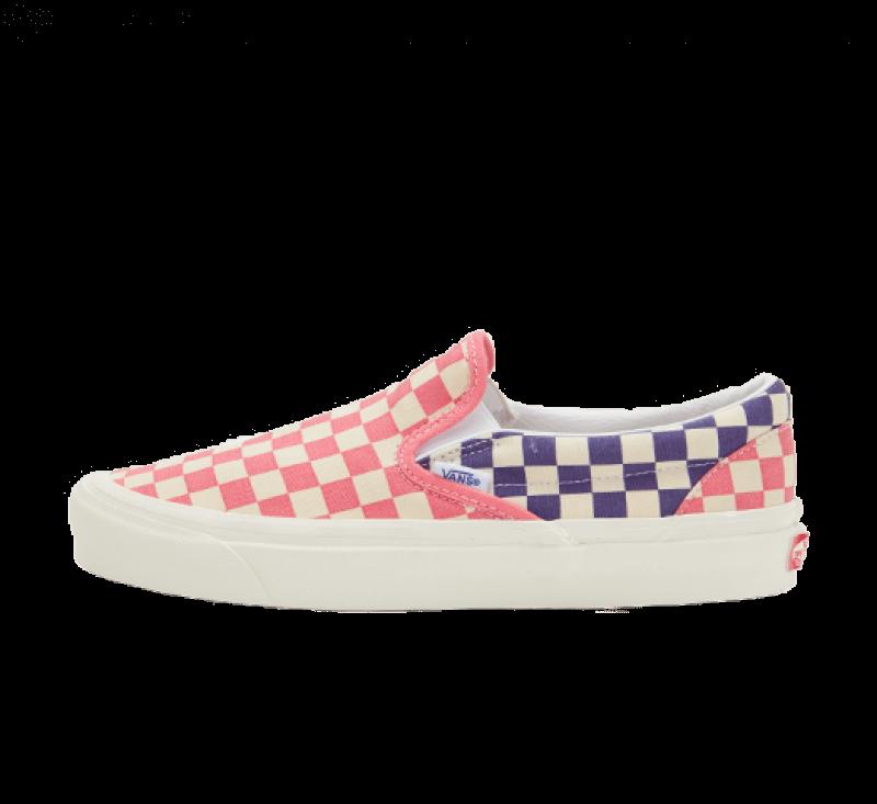 Vans Classic Slip-On 9 Anaheim Factory OG Light Pink/OG Purple-OG Checker