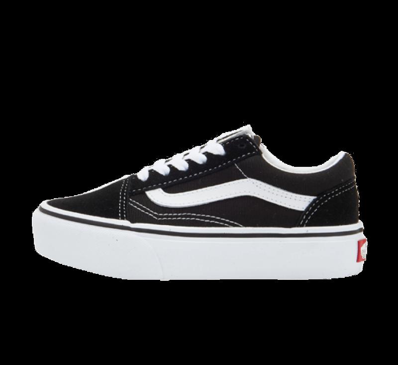 Vans Old Skool Platform Black/True White