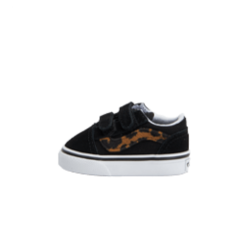 Vans Old Skool V Leopard Black/True White