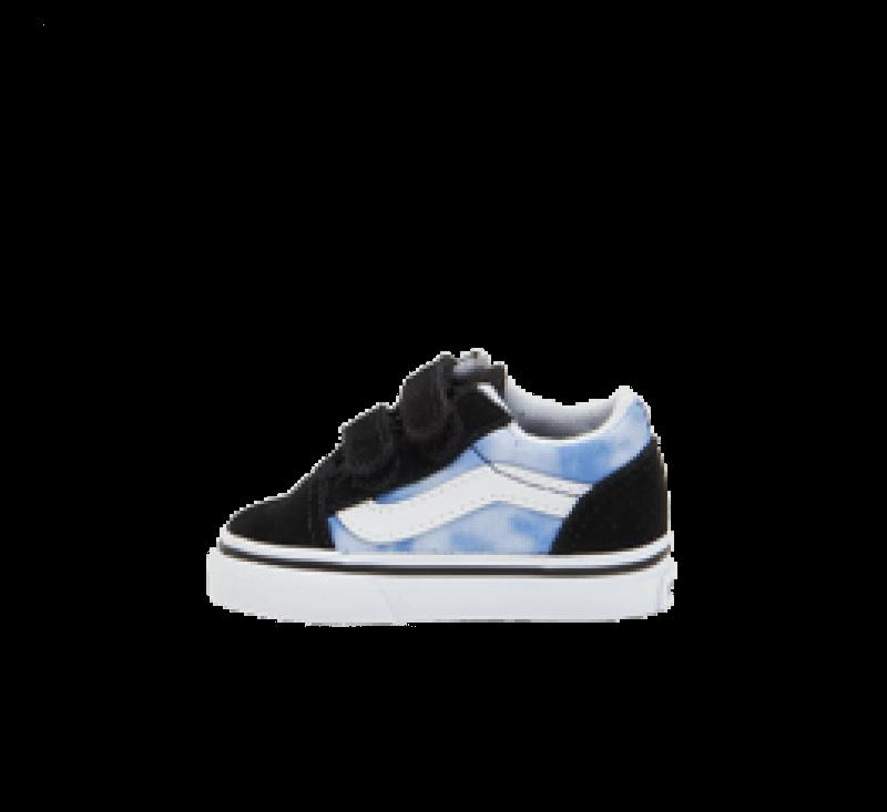 Vans Old Skool V Tonal Tie Dye Blue Coral/True White