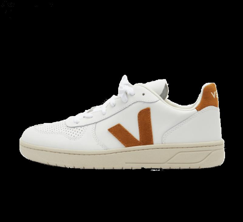 Veja V-10 Leather Extra White / Camel