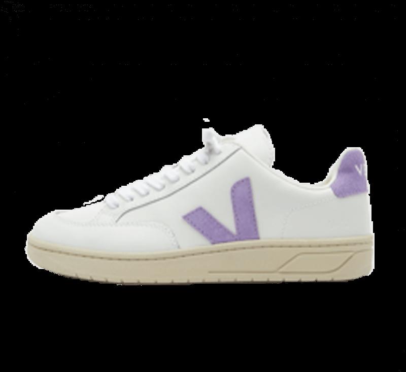 Veja Women's V-12 Leather Extra White / Lavender