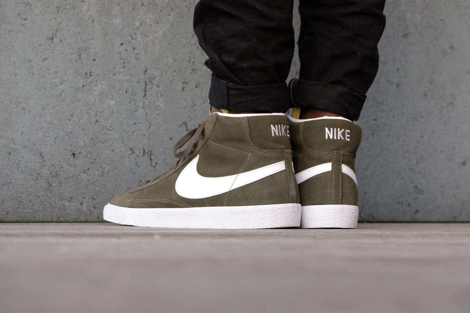 100% authentic 2dd1a c2a9a ... Nike Blazer Mid PRM Urban Haze White - White - Gum Light Brown - 429988  ...