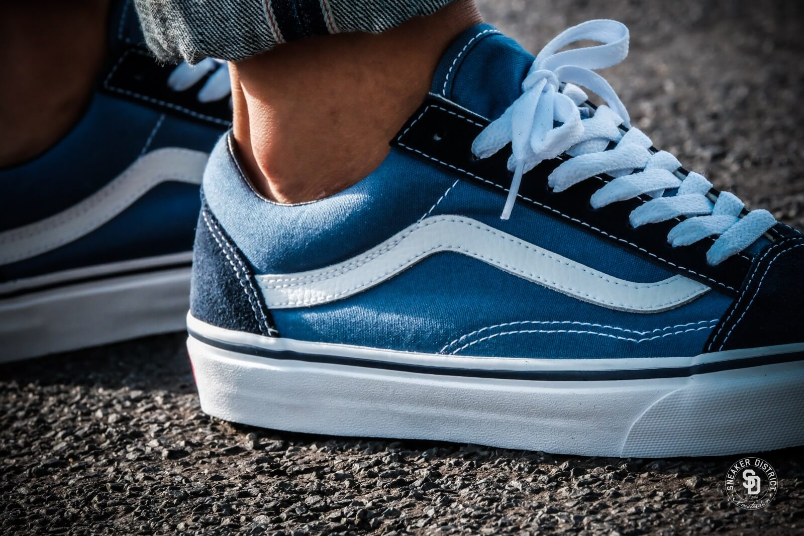 vans old skool all navy blue