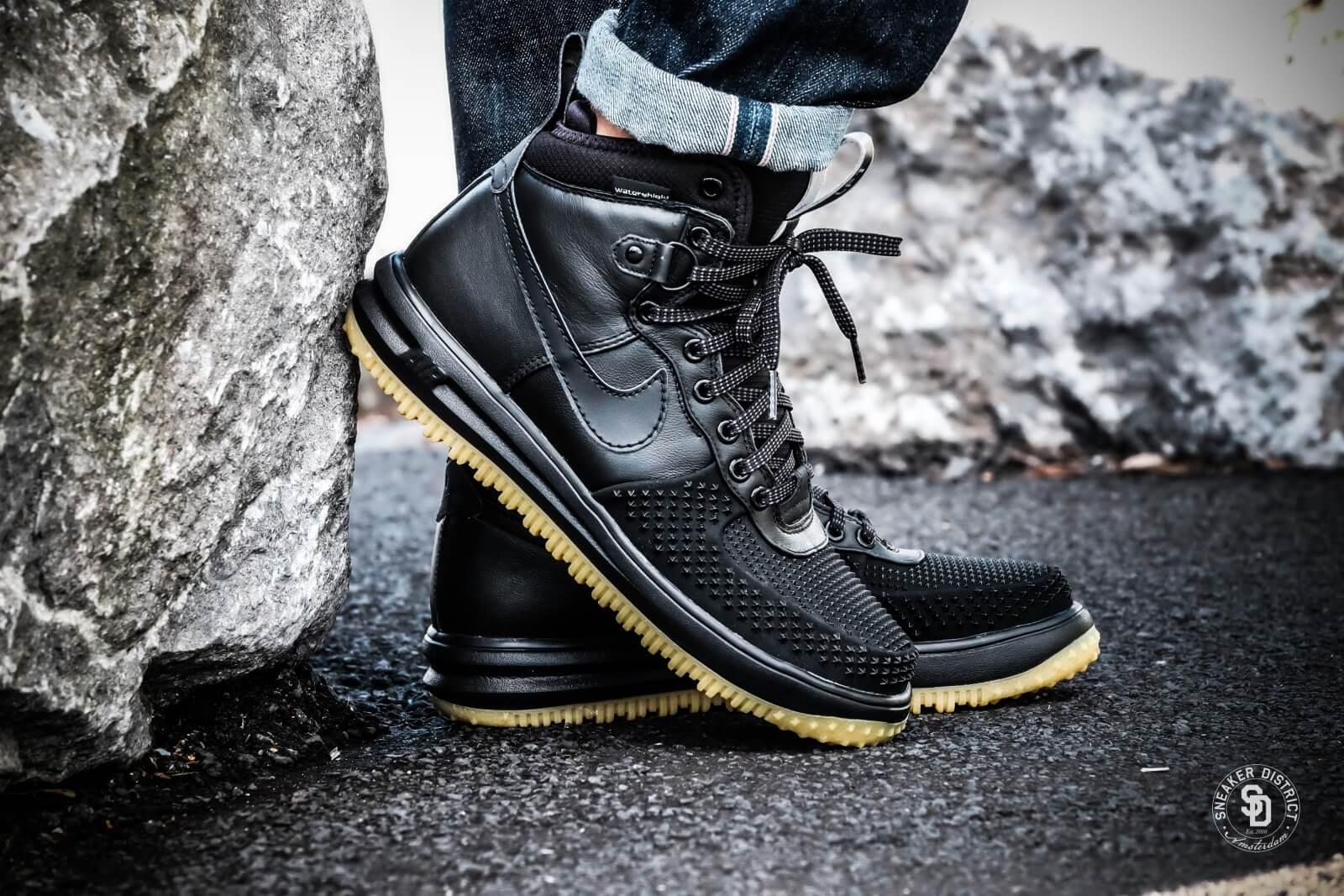 Nike Lunar Force 1 Duckboot Black Black Metallic Silver
