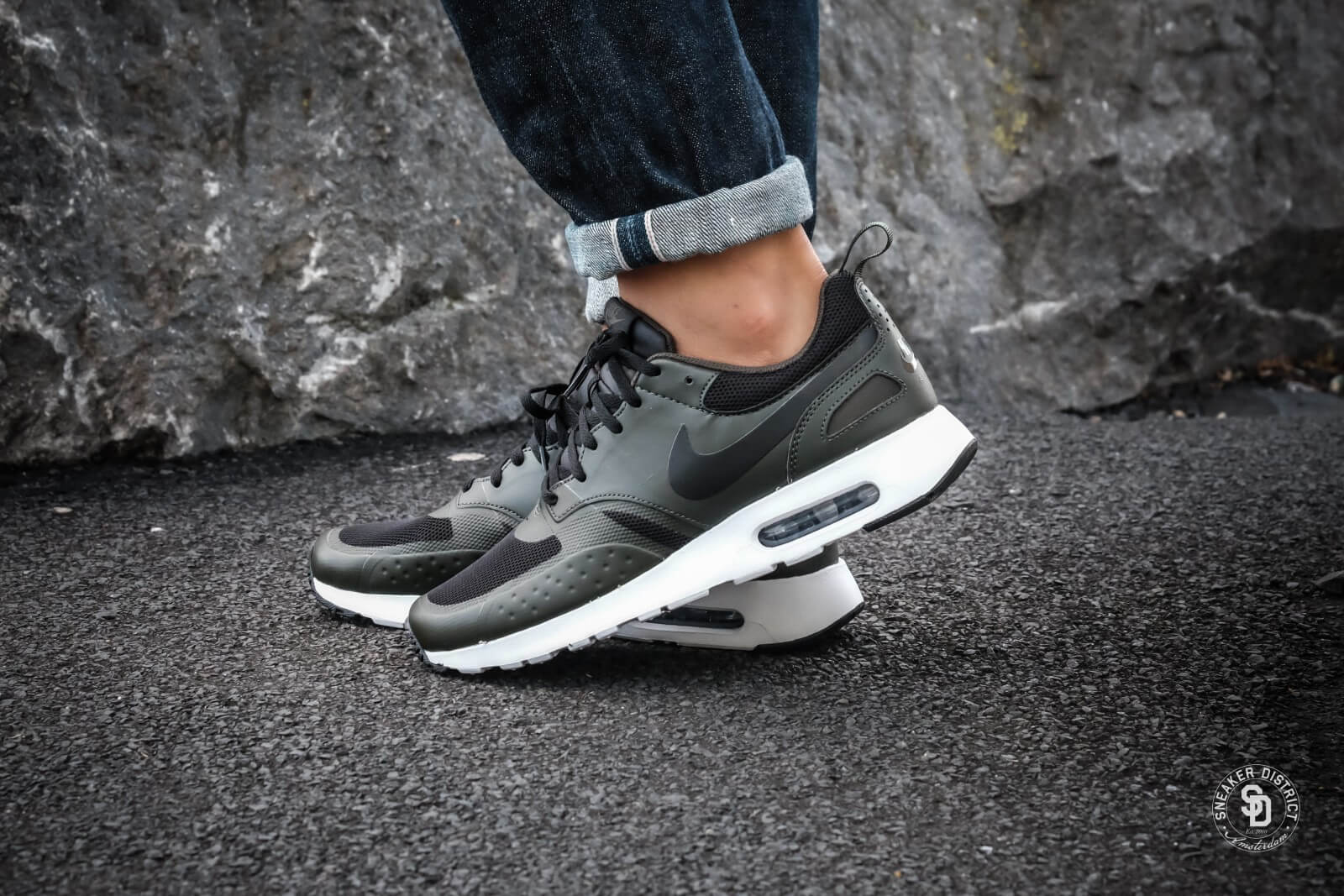 nike air max vision blacksequoia heren sneakers geen