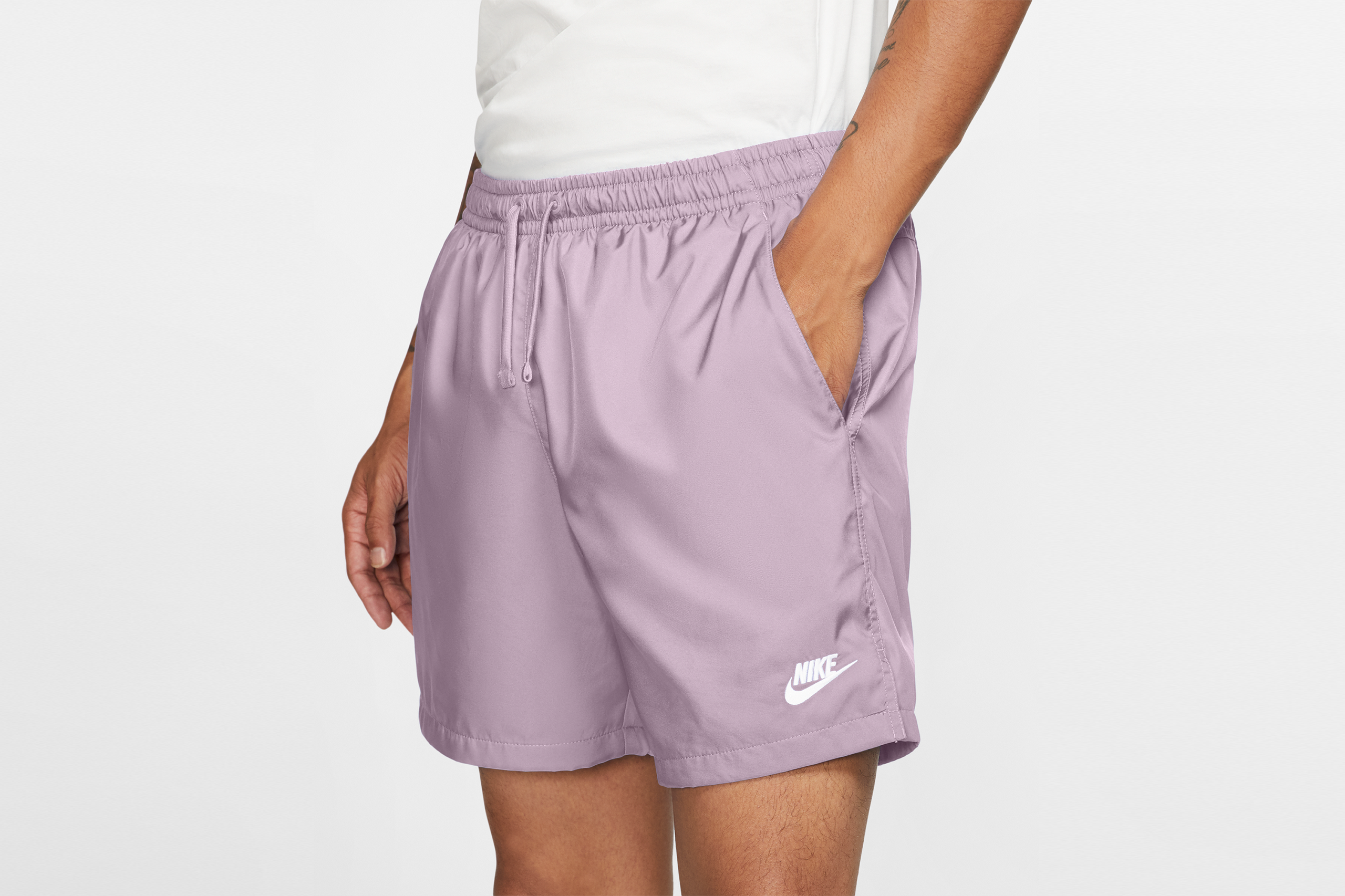 Nike NSW Woven Shorts Iced Lilac/White