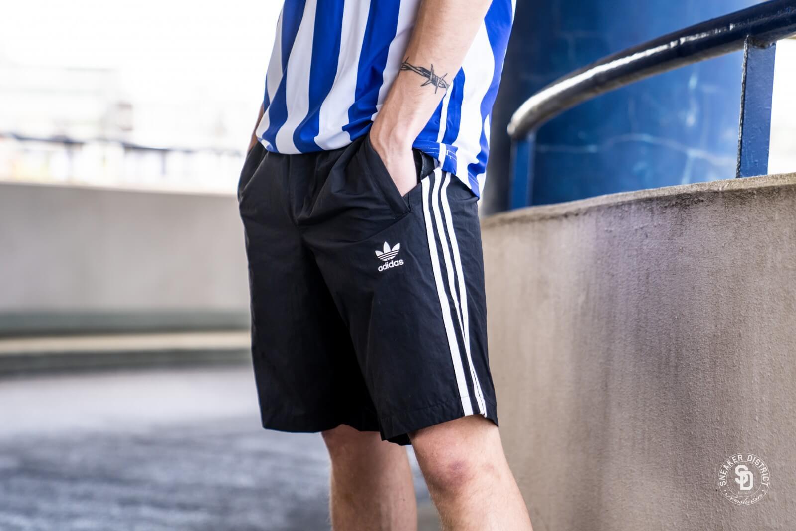 3 stripes adidas shorts