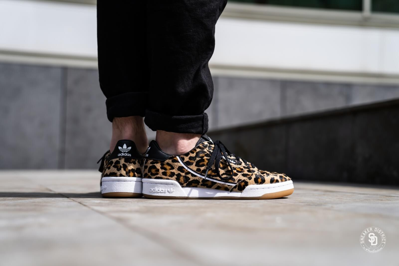Adidas Continental 80 Leopard Core Black/Footwear White - F33994