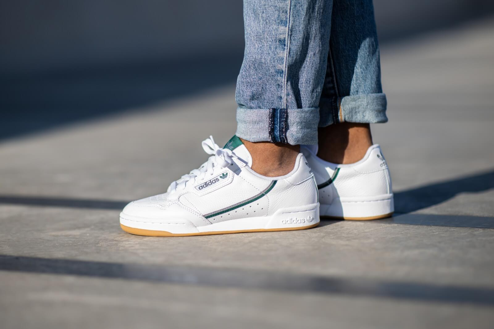 Adidas Continental Cloud White/Grey Three-Collegiate Green - FV2873
