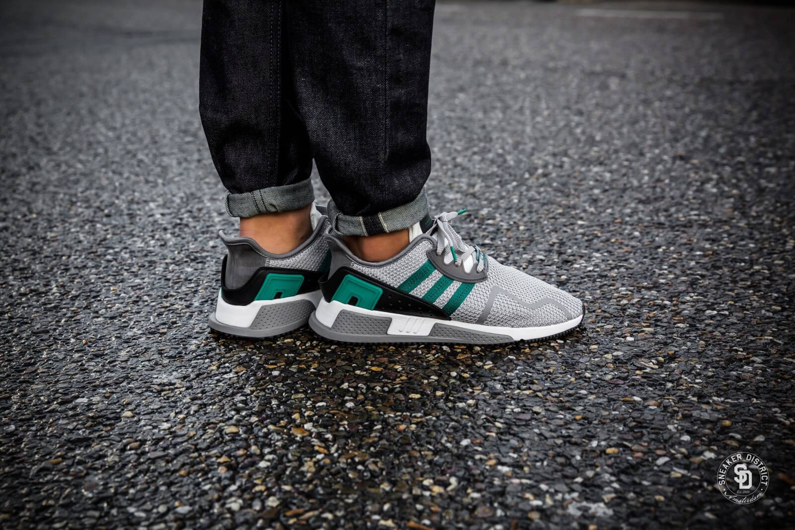 pretty nice c838b 0007f ... Two Sub Green Ftwr White) Adidas EQT Cushion ADV Grey TwoSub  GreenFootwear White - AH2 ...