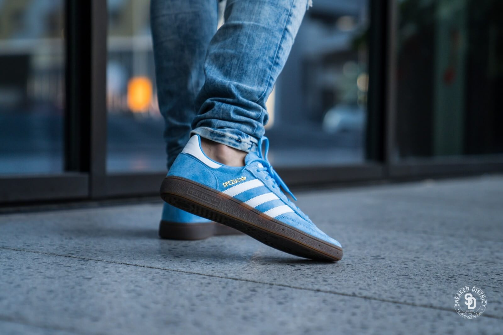 wholesale nice shoes newest collection Adidas Handball Spezial Light Blue/Footwear White/Gum - BD7632